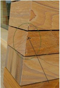 Desperfectos en los elementos de madera de la vivienda derivados de la incorrecta ejecución de los mismos.